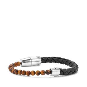 14.20ct Tiger's Eye Sterling Silver Bracelet