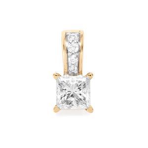 Diamond Pendant in 18K Gold 0.52ct