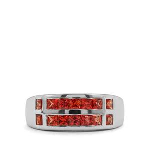 Songea Red Sapphire Ring in Sterling Silver 1.36cts