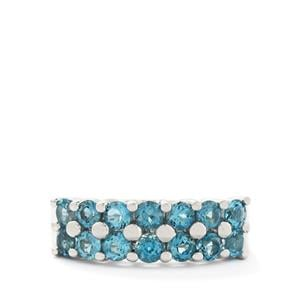 1.81ct Swiss Blue Topaz Sterling Silver Ring
