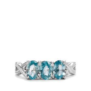 1.94ct Ratanakiri Blue Zircon Sterling Silver Ring