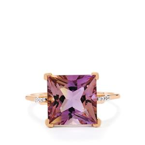 Anahi Ametrine Ring with Diamond in 10k Rose Gold 4.54cts