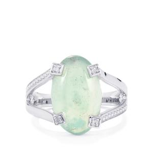 Aquaprase™ Ring with Diamond in Sterling Silver 5.38cts