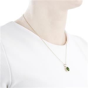 2.58ct Mandrare Green Apatite 14k Gold Tomas Rae Pendant