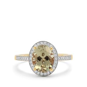 Csarite® Ring with Diamond in 18K Gold 3.20cts