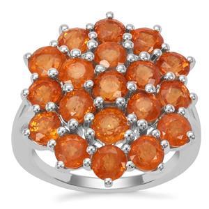 Mandarin Garnet Ring in Sterling Silver 7.69cts