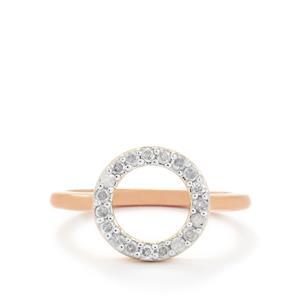 1/4ct Diamond Rose Gold Vermeil Ring