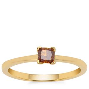 Natural Fancy Yellow Diamond Ring in 18K Gold 0.28ct