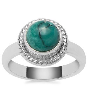 2.48ct Lhasa Turquoise Sterling Silver Aryonna Ring