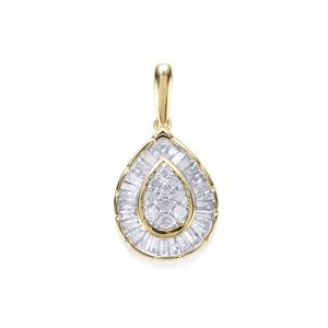 Diamond Pendant in 10K Gold 0.50ct