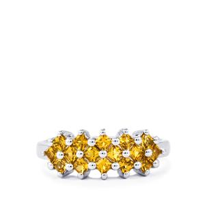 0.72ct Yellow Tourmaline Sterling Silver Ring