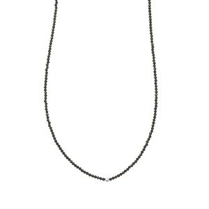 Spinel Bead Necklace with Silver Ball in Sterling Silver 34cts