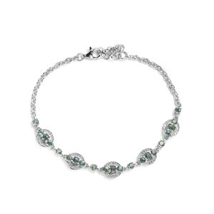 Tunduru Colour Change Sapphire Bracelet with White Topaz in Sterling Silver 3.27cts