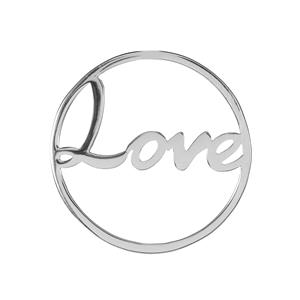 Love Sterling Silver Disc 2.26g