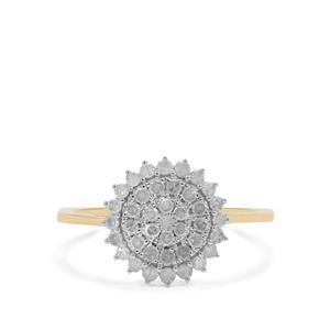 Diamond Ring in 9K Gold 0.53ct
