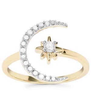 Diamond Star Ring in 9k Gold 0.26ct