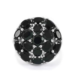 6.83ct Black Spinel Sterling Silver Ring