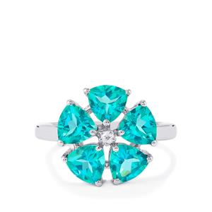 Batalha Topaz Ring with White Topaz in Sterling Silver 4.53cts