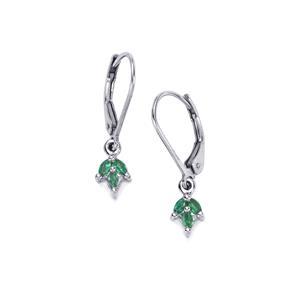Santa Terezinha Emerald Earrings in Sterling Silver 0.24cts