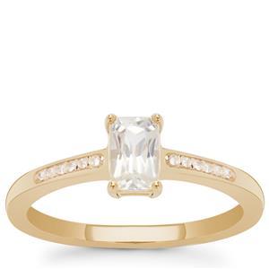 Ratanakiri Zircon Ring in 9K Gold 1cts