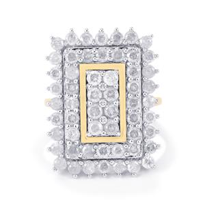 3ct Diamond 10K Gold Ring
