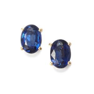 2.13ct Daha Kyanite 10K Gold Earrings