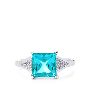 Batalha Topaz Ring with White Zircon in Sterling Silver 3.14cts