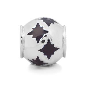 Blue Stars Kama Bead Charms in Sterling Silver