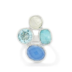 8.56ct Exotic Gems Sterling Silver Ring