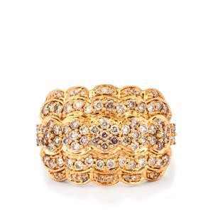 1ct Pink Diamond 18K Rose Gold Lorique Ring