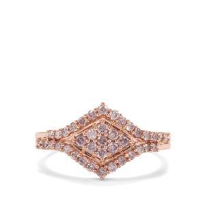 1/2ct Natural Pink Diamond 9K Rose Gold Tomas Rae Ring