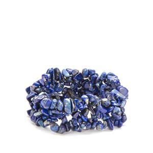 Lapis Lazuli Nugget Stretchable Bracelet 275cts