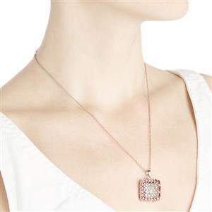 Serenite & Rhodolite Garnet Sterling Silver Pendant ATGW 4.67cts