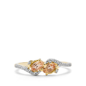 Ouro Preto Imperial Topaz & White Zircon 9K Gold Ring ATGW 0.55cts