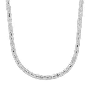 """20"""" Sterling Silver Dettaglio Diamond Cut Spiga Chain 5.53g"""
