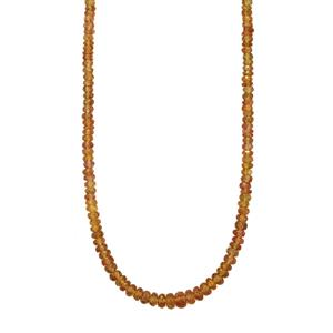 69.96ct Colour Change Garnet Sterling Silver Graduated Bead Necklace