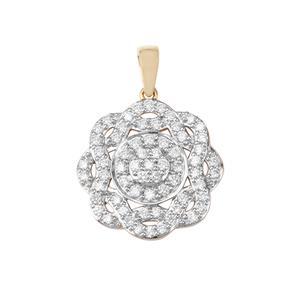 Argyle Diamond Pendant in 10K Gold 1ct