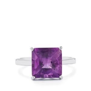Zambian Amethyst Ring in Sterling Silver 5.20cts