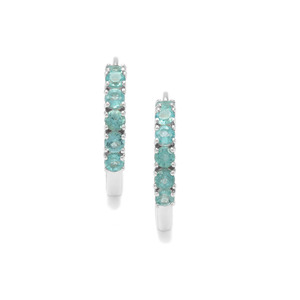 Madagascan Blue Apatite Earrings in Sterling Silver 1.39cts