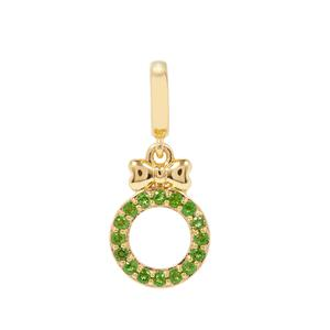 Chrome Diopside Wreath with Bow Kama Charms in Gold Plated Sterling Silver 0.27cts