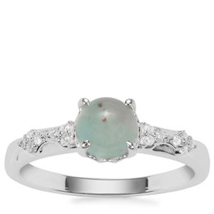 Aquaprase™ Ring with White Zircon in Sterling Silver 1.04cts