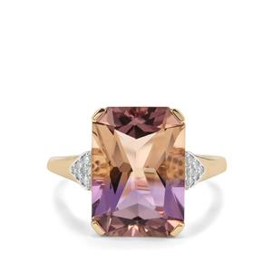 Anahi Ametrine & Diamond 9K Gold Ring ATGW 6.05cts