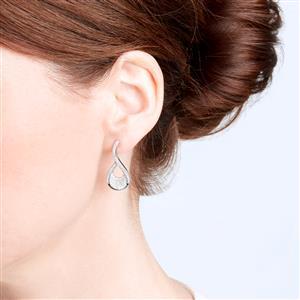 Diamond Earrings in Sterling Silver 1ct
