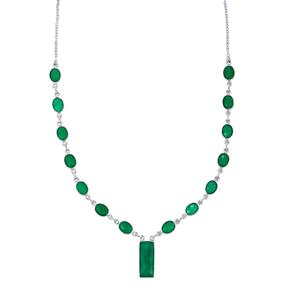 24.97ct Verde Onyx Sterling Silver Aryonna Necklace