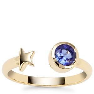 Tanzanite Star Ring in 9K Gold 0.53ct