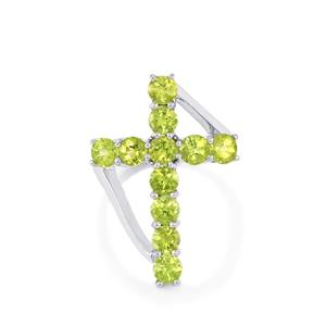 Changbai Peridot Ring in Sterling Silver 3.94cts
