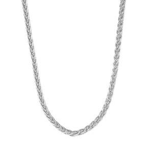 """18"""" Sterling Silver Dettaglio Mini Spiga Chain 3.28g"""