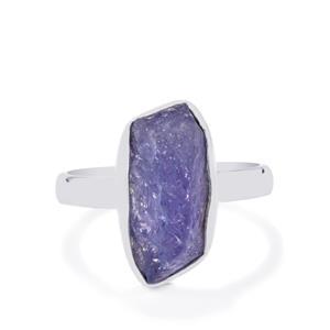 5.64ct Tanzanite Sterling Silver Aryonna Ring