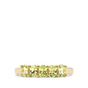 Brazilian Chrysoberyl Ring in 9K Gold 1.14cts