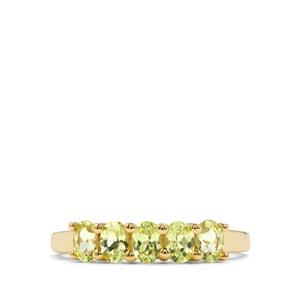 Brazilian Chrysoberyl Ring in 10k Gold 1.14cts